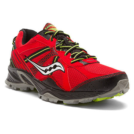 Saucony Men's Excursion TR7  •Red/Black/Grey• Trail Running Shoe