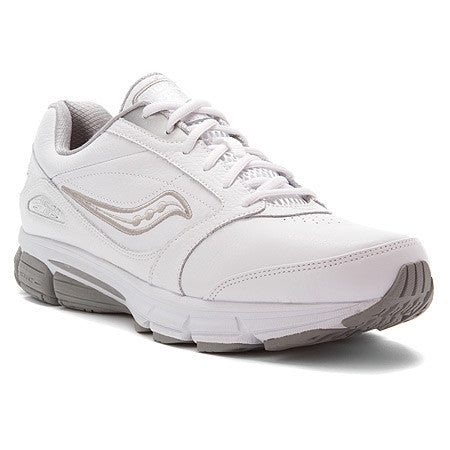 Saucony Women's Echelon LE •White Leather• Walking Shoe - Wide width - ShooDog.com