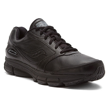 Saucony Women's Echelon LE •Black Leather• Walking Shoe - ShooDog.com