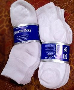 Diabetic Non-Binding Quarter Socks -3-pair pack