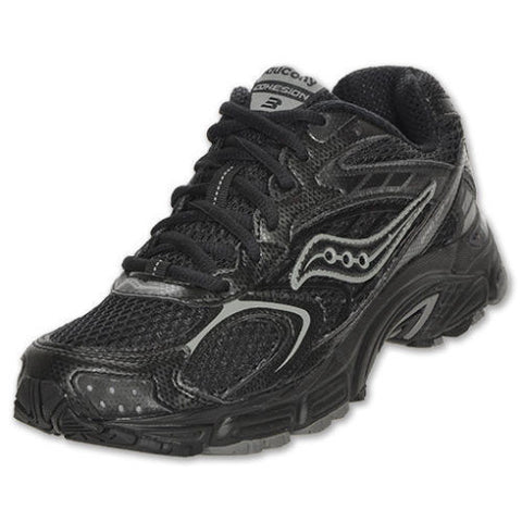 SAUCONY Women's Grid Cohesion 3 -Black Mesh- Running Shoe