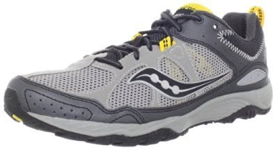 Men's Saucony Adapt •Grey/Black/Yellow• Running Shoe - ShooDog.com
