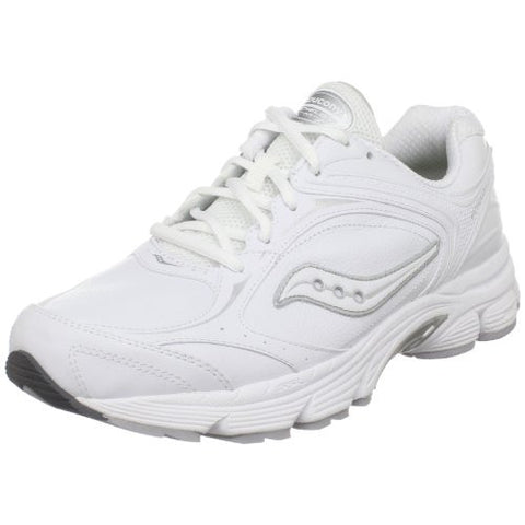 Men's Saucony Echelon LE  •White• Leather Walking Shoe - Wide Width - ShooDog.com
