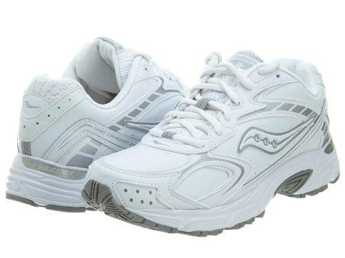 9a342246 SAUCONY Women's Grid Cohesion 3 -White Leather- Walking Shoe