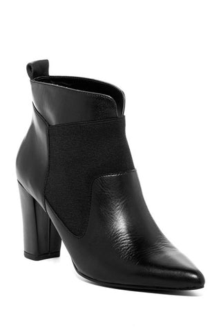 ELLEN TRACY Women's Persuade Ankle Boot - Black Leather -