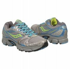 SAUCONY Women's Grid Cohesion 5 -Blue/Gray/Green- Running Shoe •Wide Width• - ShooDog.com