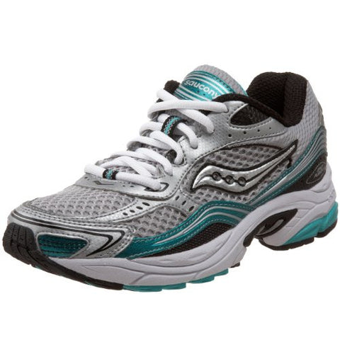 SAUCONY Women's Grid Cohesion 3 -Silver/Grey/Plum- Running Shoe - ShooDog.com