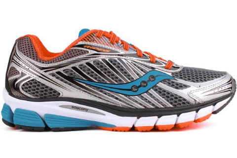 Mens Saucony ProGrid Ride 7 •Grey/Orange/Blue• Running Shoe - ShooDog.com