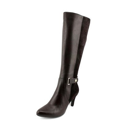 ELLEN TRACY Women's Crush Boot - Black Leather -