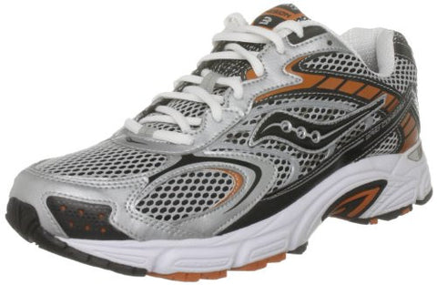 Saucony Men's Grid Cohesion 3 •Silver/Black/Org• Trail Running Shoe - ShooDog.com