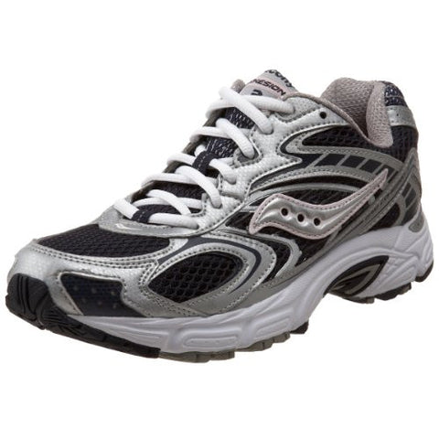SAUCONY Women's Grid Cohesion 3 -Navy/Silver/Pink- Running Shoe - ShooDog.com