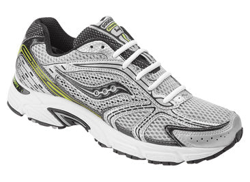 Men's Saucony Phantom 4 •Silver/Grey/Citron• Running Shoe - ShooDog.com