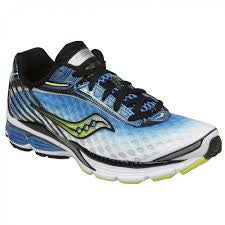 Saucony Men's Cortana Running Shoe •Blue/White/Neon Green•