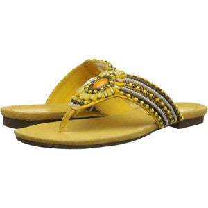 J. Renee Barreron Beaded Sandal ~ Yellow - ShooDog.com