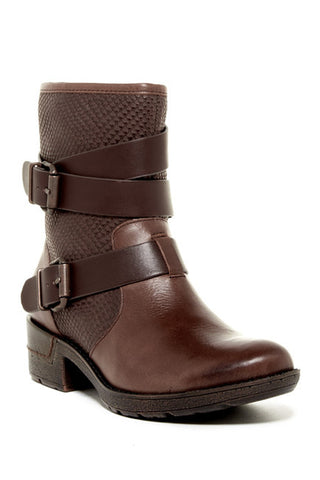 SOFFT Women's Aldina •Brown Leather•  Engineer Ankle Boots - ShooDog.com