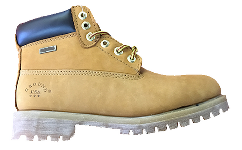 "Mens 5 1/2"" Premium Work Boot - Availalbe in Wheat NuBuck or Black Smooth Leather"