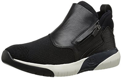 Ash Women's  •SHU• Calfskin Leather High Top Sneakers  - Black