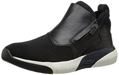 Ash Women's  •SHU• Calfskin Leather High Top Sneakers  - Black - ShooDog.com