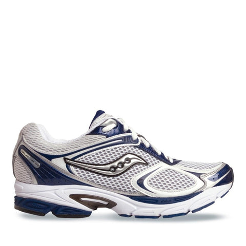 Men's Saucony ProGrid Guide 7 •White/Navy• Running Shoes - ShooDog.com