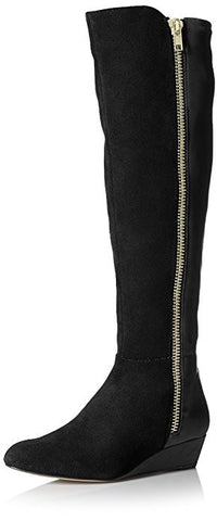 "ELLEN TRACY Women's ""Stillano"" •Black• Leather & Suede Demi-Wedge Boot"