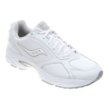 Men's Saucony Grid Omni Walker •White/Silver•  Walking shoe