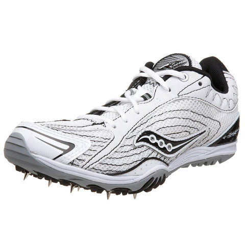 Saucony Women's Shay XC Track & Field Shoes/Spikes •White/Black• - ShooDog.com