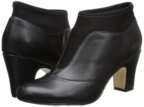 TARYN ROSE Women's •Tavie• Stretch-Inset Leather Bootie - ShooDog.com