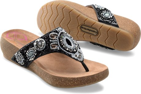 COMFORTIVA Women's •Sade• Beaded Thong Sandal