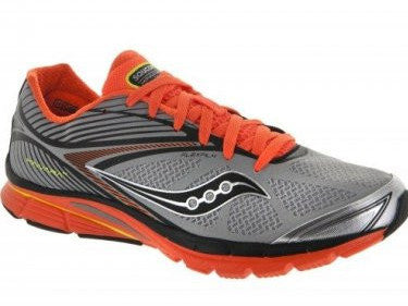Men's Saucony Kinvara 4 ViZiGLO •Silver/Orange/Citron• Running Shoe