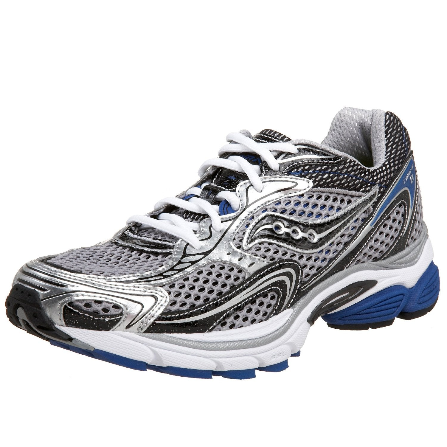 8aabe48831 Men's Saucony Grid Omni 8 •Silver/Blue• Running Shoe