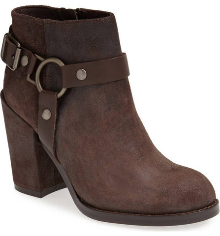 ASH Women's •Falcon•  Harness Ankle Bootie - Brown Leather