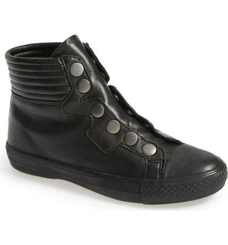 Ash Women's •Vespa• Leather High Top Sneakers  - Black