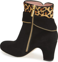 TARYN ROSE Women's •Tempie• Leopard-Print Calf-Hair Ankle Boot - ShooDog.com
