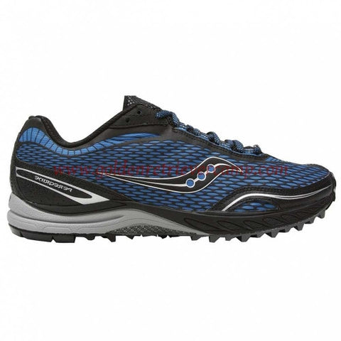 Mens Saucony ProGrid Peregrine Trail Running •Blue/Black• - ShooDog.com