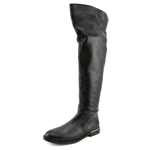 Carmen Marc Valvo Women's 'Drina'  •Black Leather • Over the Knee Boots - ShooDog.com