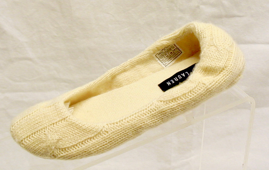 Ralph Lauren Girls •Mae• Cashmere Slipper-Cream