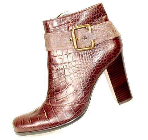 JESSICA BENNETT Women's •Katrine• Croco Dress Bootie