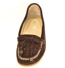Women's Geox •D Candy K• Slip-on Moccasian - Coffee Suede