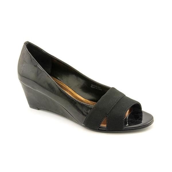 Women's Ellen Tracy  'Indus' Black Patent  Dress Wedge - ShooDog.com