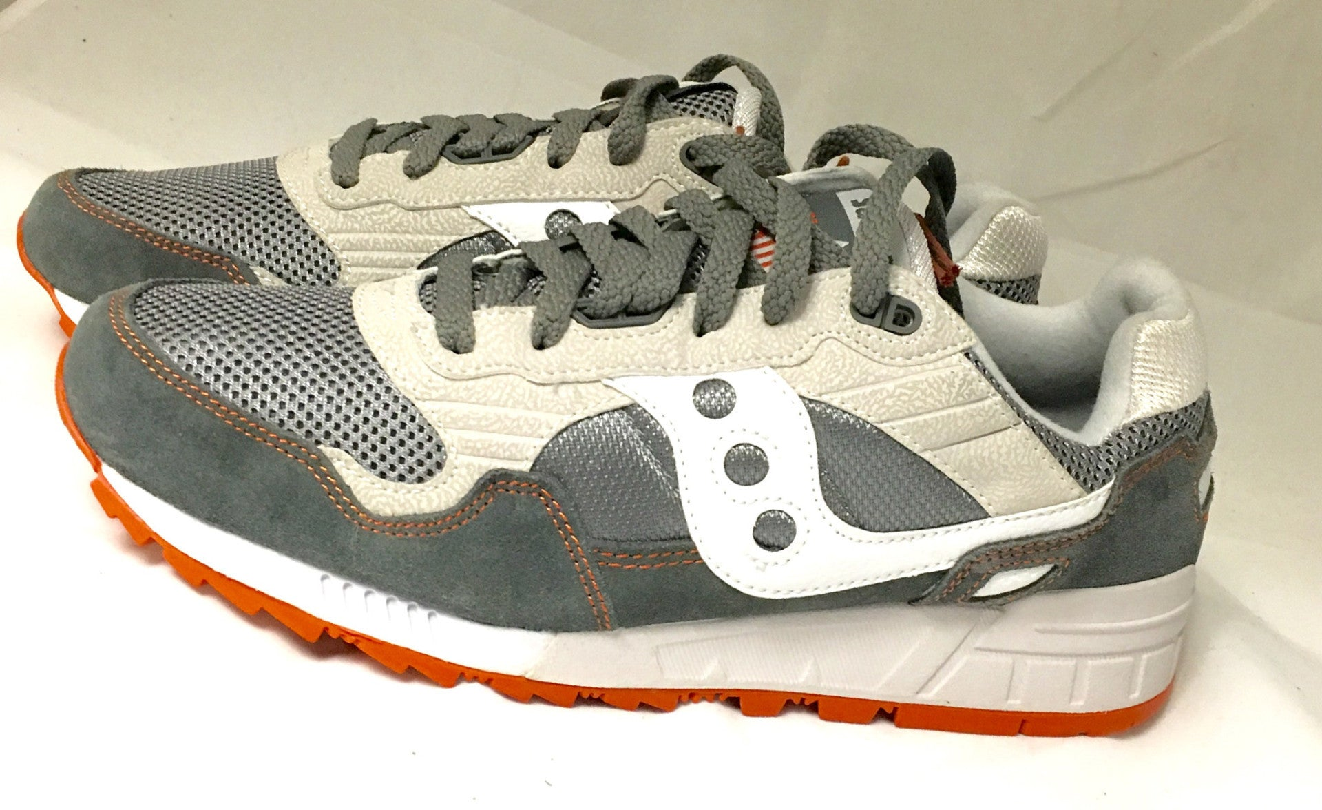 separation shoes 06273 d89f0 Men's Saucony Shadow 5000 •Grey/White/Orange• Running Shoe
