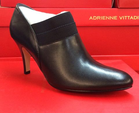 ADRIENNE VITTADINI Women's Teaser Bootie -Black Leather-