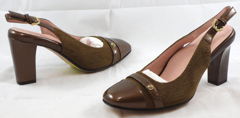 TARYN ROSE Women's Cabrini Slingback Pump - Brown - 6M - ShooDog.com