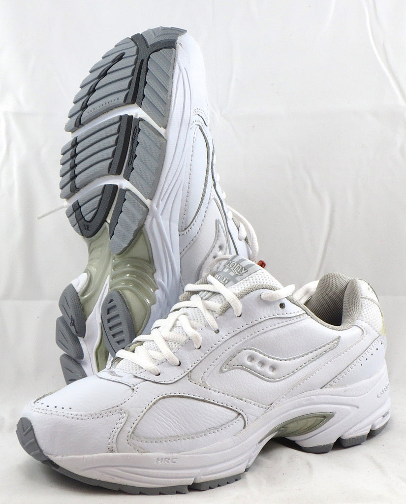 SAUCONY Women's Grid Omni Walker •White Leather• NARROW WIDTH - ShooDog.com