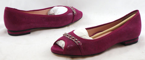 TARYN ROSE Women's Aci Flat - Magenta Leather - 6M - ShooDog.com