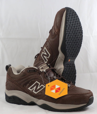 Mens New Balance 623 SG  •BROWN NU-BUCK• NON-SLIP SOLE - ShooDog.com