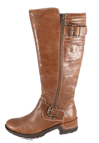 SOFFT Women's Adama •Distressed Caramel Leather• Riding Boot - ShooDog.com