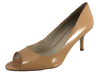 "Womens's ""Shoes n More"" by J.LITVACK  •Nude Patent Leather• Open-Toe  Pump"