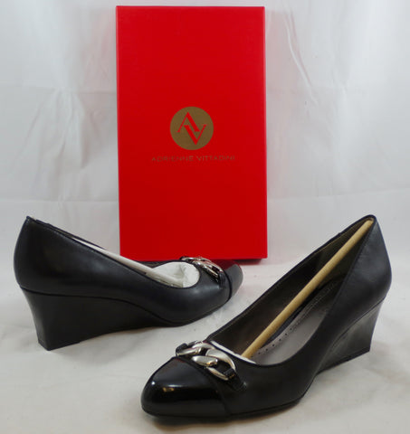 ADRIENNE VITTADINI Women's Mendon Wedge - Black - MSRP $109 - ShooDog.com