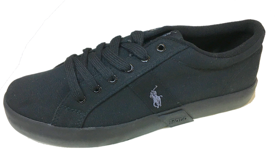 POLO RALPH LAUREN  •Giles• Black Canvas Sneaker - Fits Women or Youth