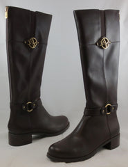 ADRIENNE VITTADINI Women's Tripp Boot - Dark Brown Smooth Leather - MSRP $179 - ShooDog.com